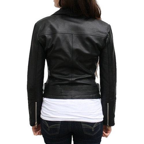 Country Chic Ladies Motorbike Leather Jacket MJW704