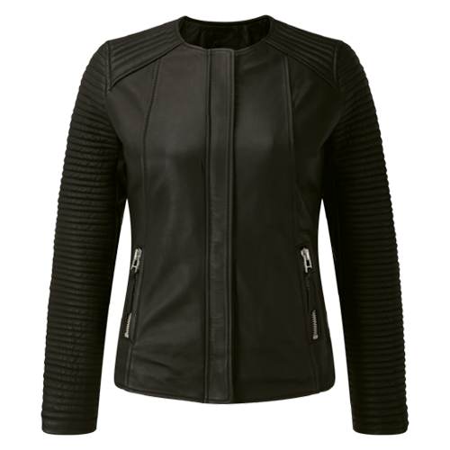 Lina Ladies Motorbike Leather Jacket MJW703